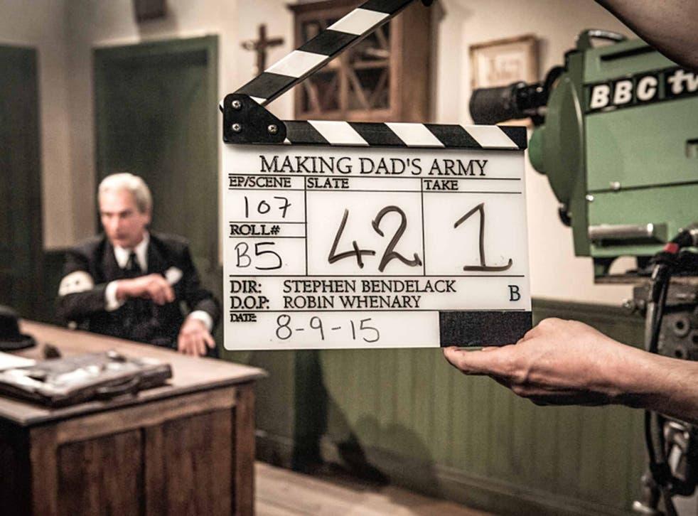 Role play: Julian Sands as John Le Mesurier – Sergeant Wilson in the show