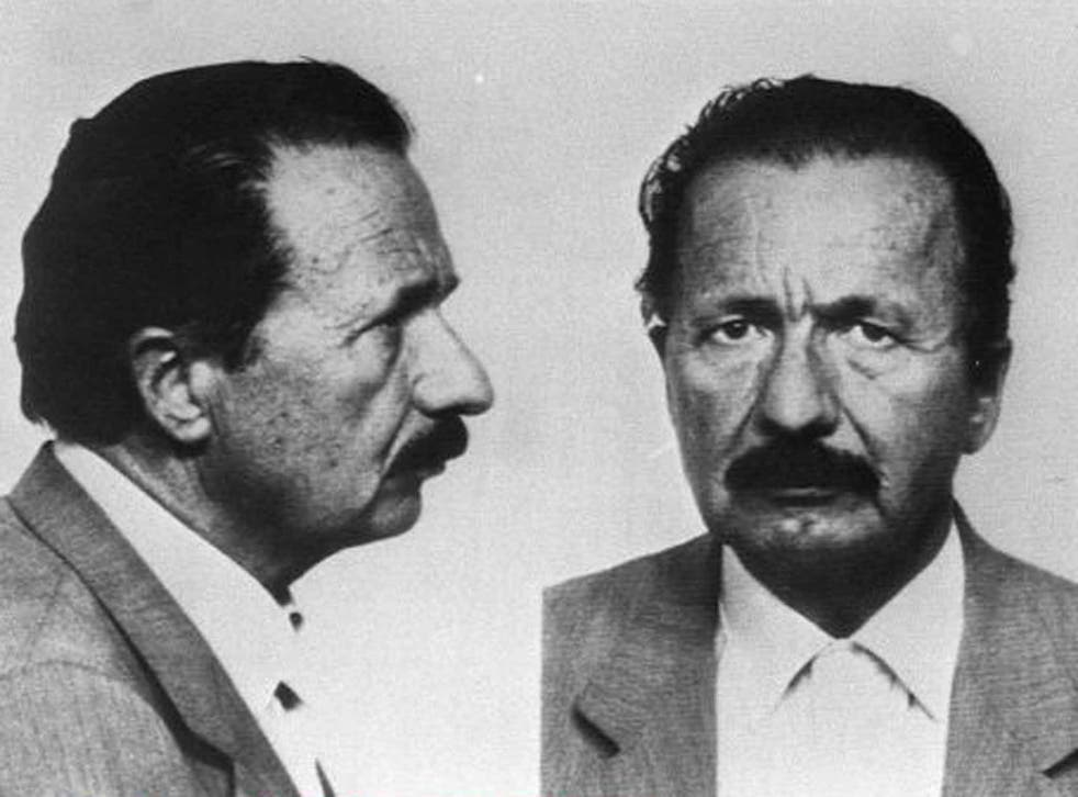 Mugshots of Gelli issued by Swiss police in 1985 after he had escaped from prison there