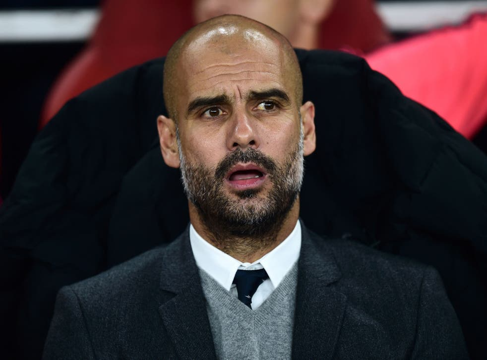 Pep Guardiola took over a  Bayern Munich side that had just won the treble