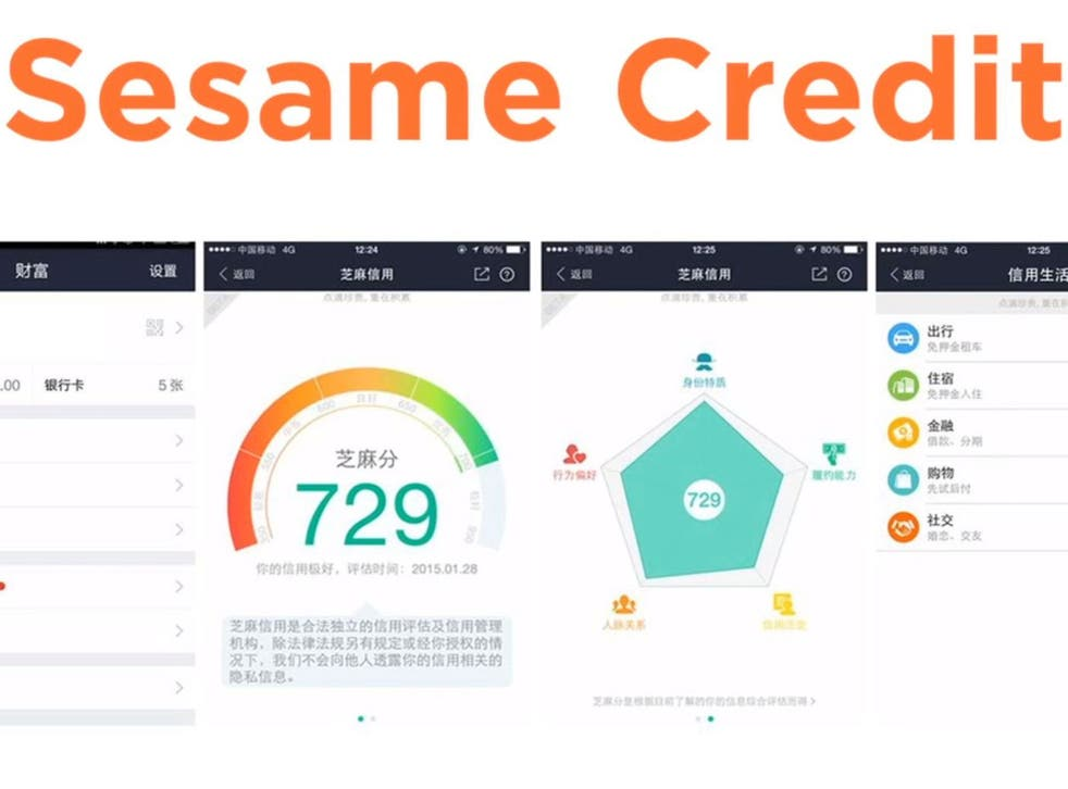 Sesame Credit measures how obediently citizens follow the party line, pulling data from social networks and online purchase histories