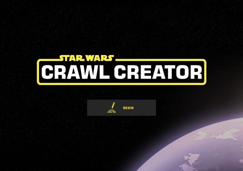 Star Wars Crawl Creator: Site lets you write your own adventure in