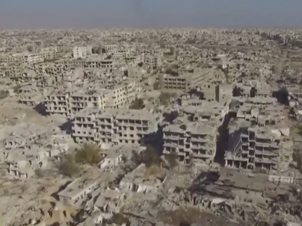 Drone video shows level of devastation in Damascus | The