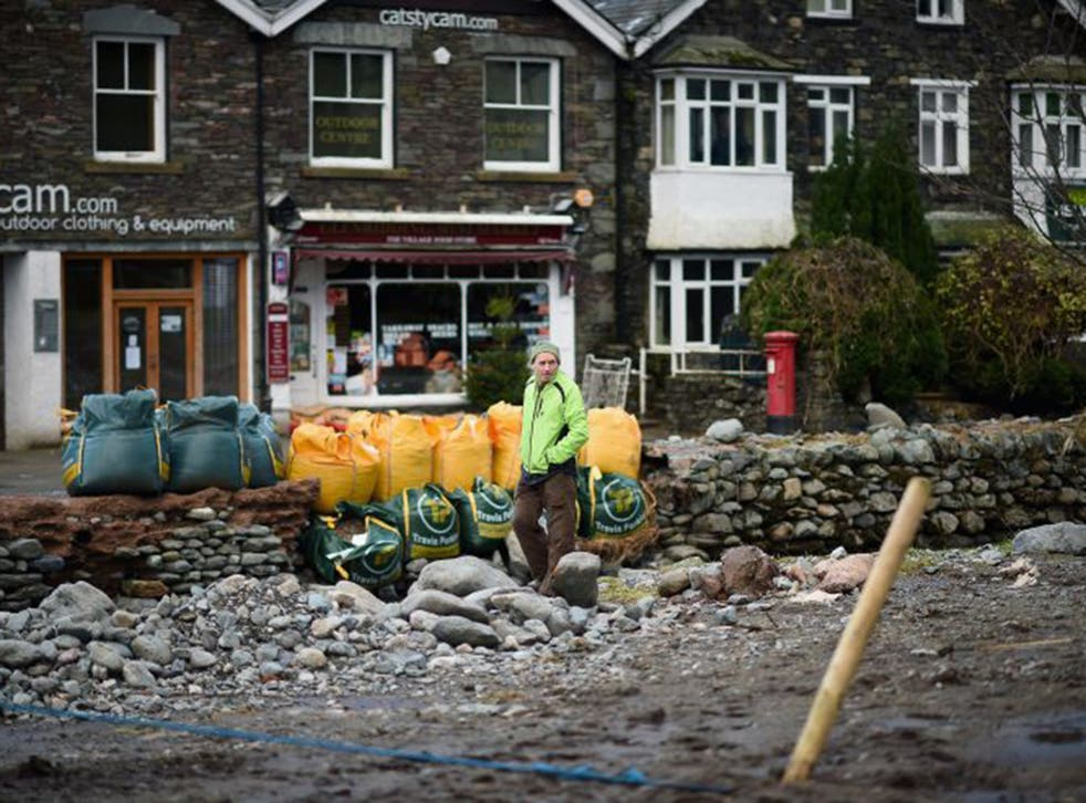 The village of Glenridding in Cumbria was flooded for the third time in three weeks yesterday, as Storm Eva moved in from the Atlantic