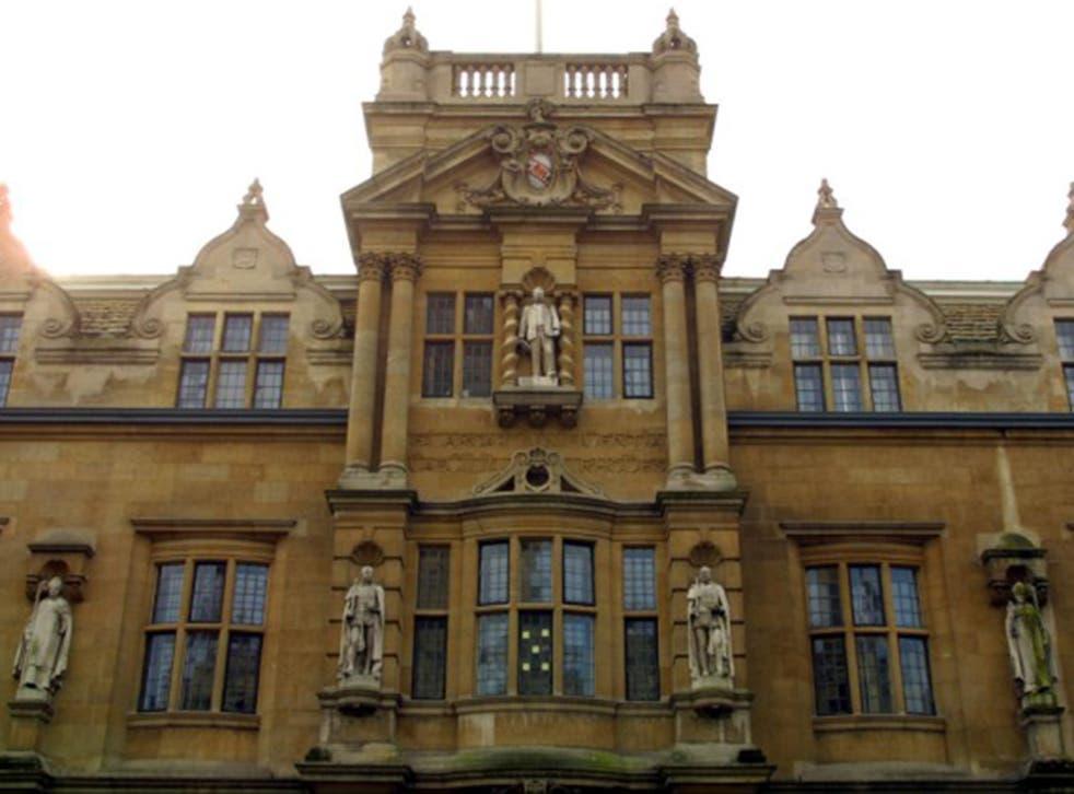 Cecil Rhodes on Oriel College in Oxford