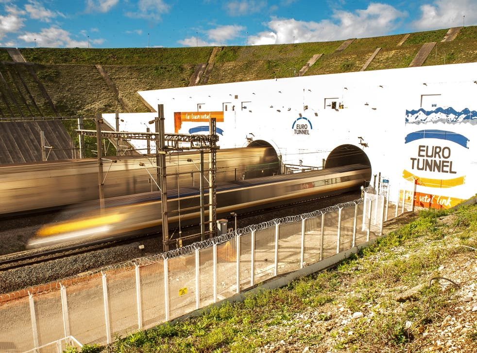 The Channel tunnel at Coquelles in October, when defences against intruders were improved