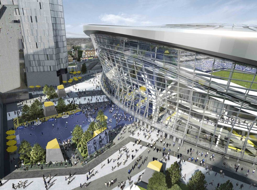 An artist's impression of the new Tottenham Hotspur stadium, which has been approved by planners