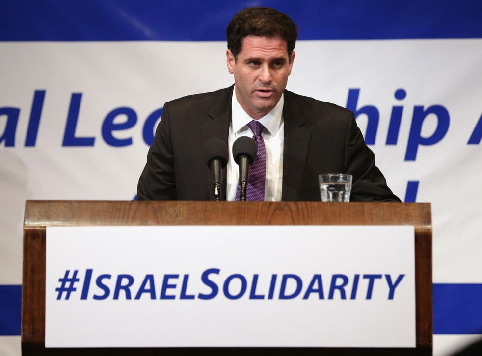 Israeli Ambassador to the United States Ron Dermer addresses Jewish leaders