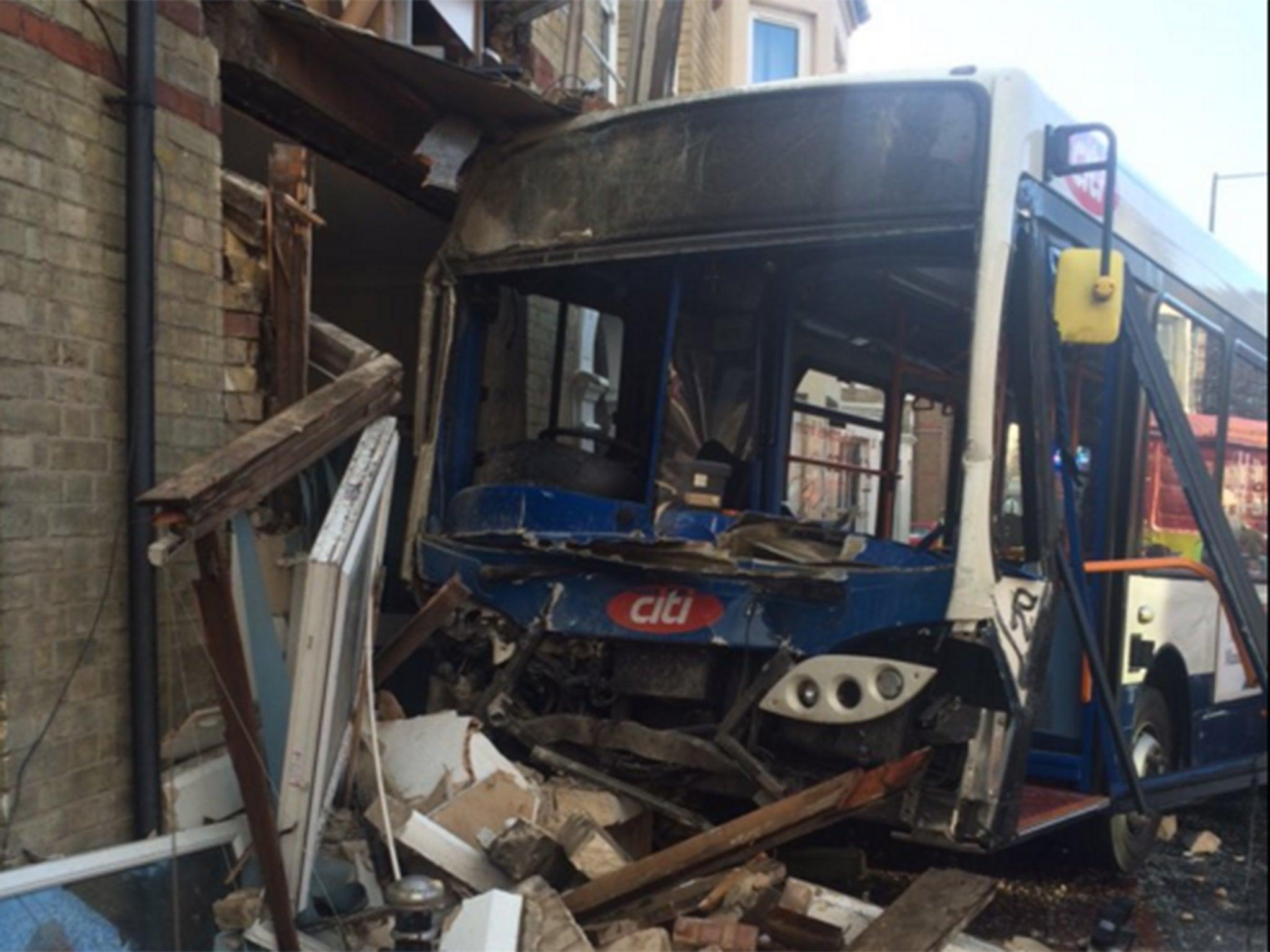 peterborough bus crash 13 injured as single decker. Black Bedroom Furniture Sets. Home Design Ideas