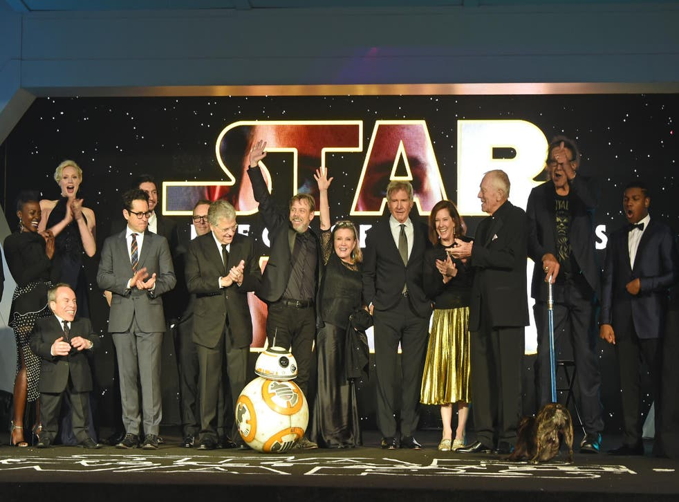 The Star Wars: The Force Awakens cast greet fans at the London premiere