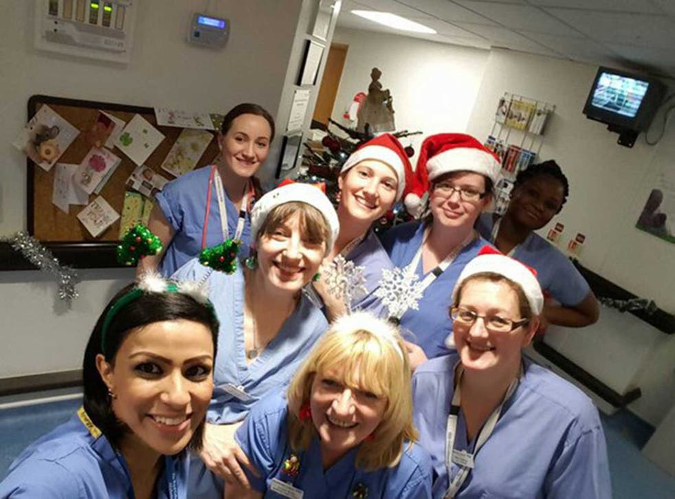 Midwives in Berkshire working the night shift into Christmas Day