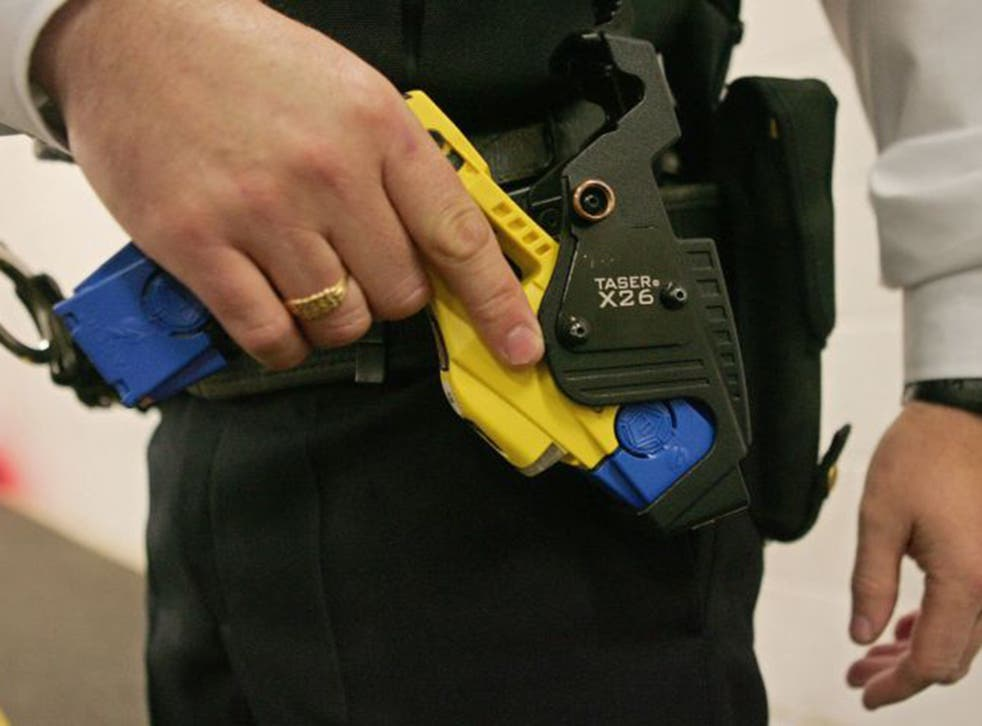 A police-issue Taser, the use of which increased between 2010 and 2014 from 6,238 incidents to 9,196