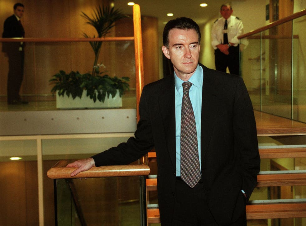 Peter Mandelson resigned as Trade Secretary in December 1998