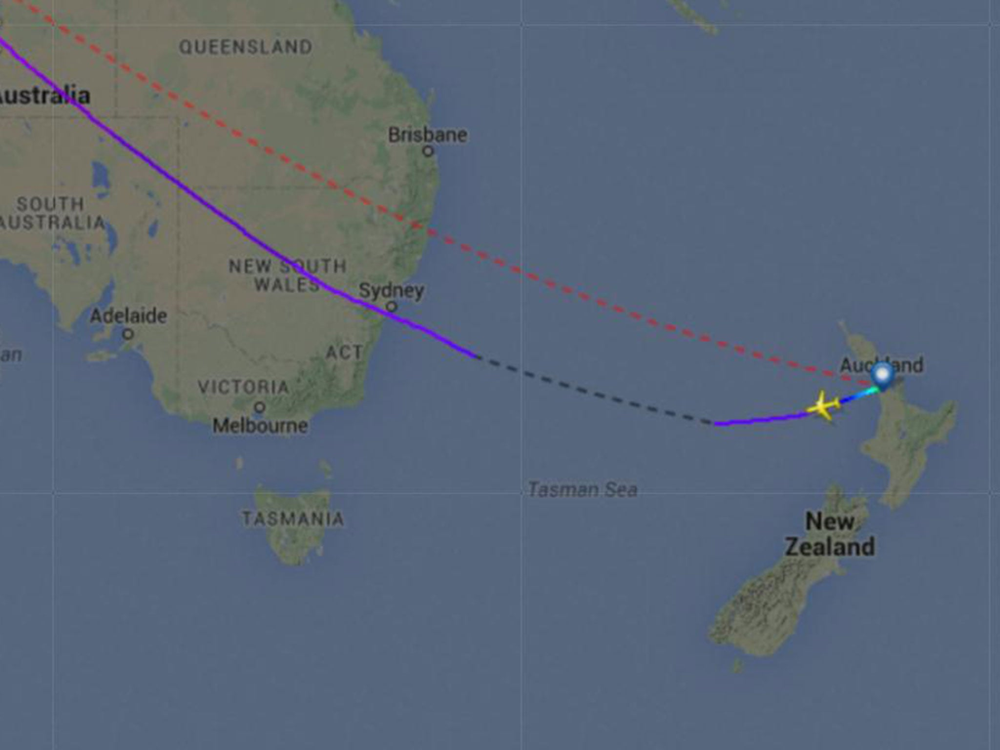 Malaysia Airlines plane \'flies in the wrong direction\' from New ...