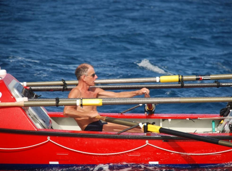 John Beeden took more than six months to complete the 6,100-nautical-mile row across the Pacific