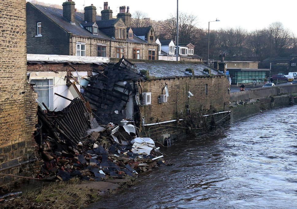 Example Of A Good Thesis Statement For An Essay Part Of A Building Collapsed Into The River After Yesterdays Floods In  Mythelmroyd England English Essay Short Story also Science Fiction Essays  Measures That Must Be Taken To Prevent More Flooding In The  Yellow Wallpaper Analysis Essay