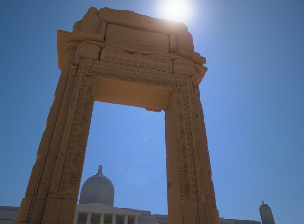 Digital renderings of the proposed Syrian arch of Palmyra