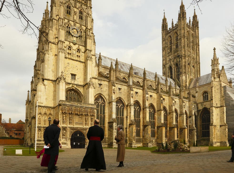 Canterbury Cathedral: The South Downs Pilgrims' Way is a 240 mile route from Winchester to Canterbury