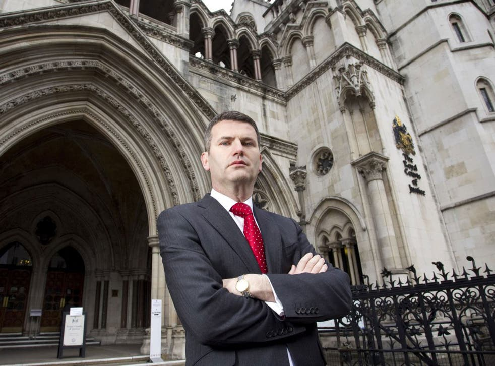Mark Lewis, pictured outside the High Court, represented victims of the phone hacking scandal
