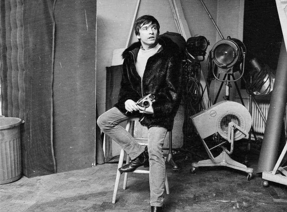 David Bailey in his studio in 1966