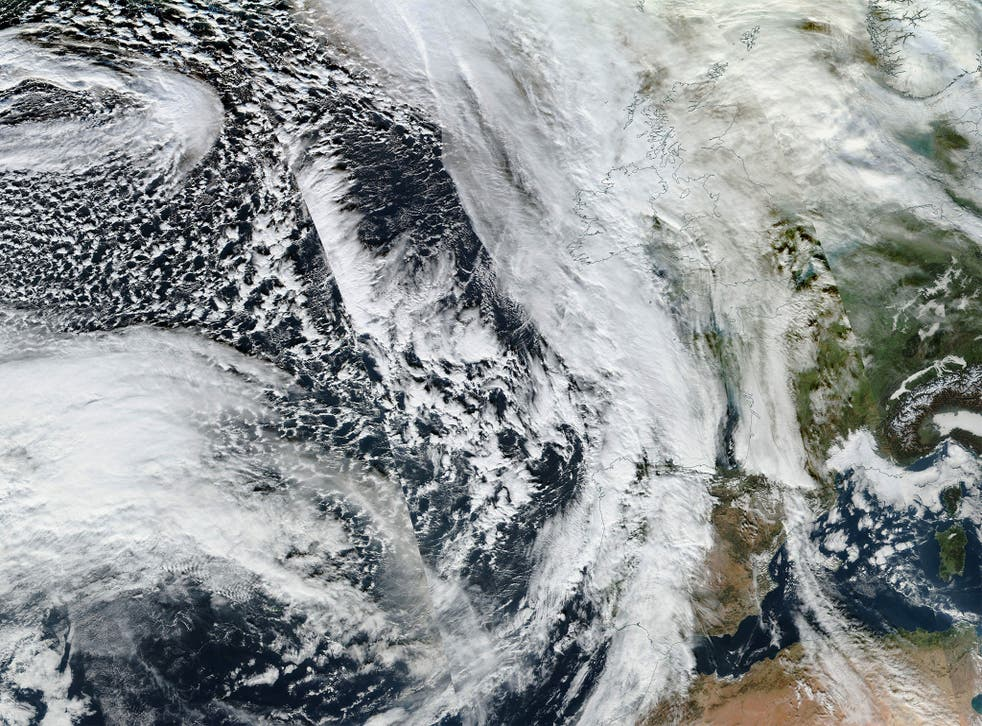 Satellite image shows Storm Frank approaching Britain