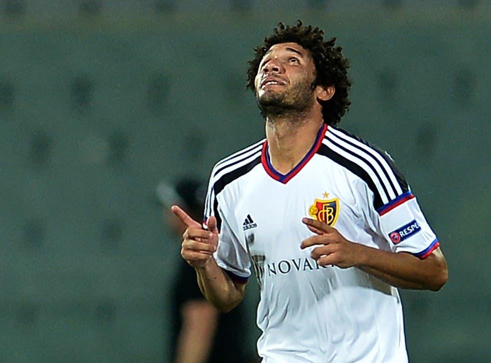 The Basel midfielder Mohamed Elneny