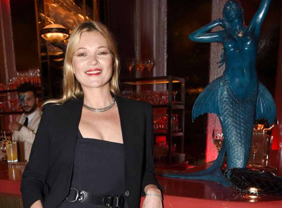 Top table: Kate Moss at the launch party for Sexy Fish in Mayfair