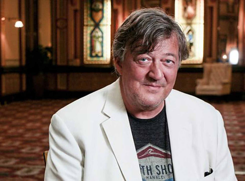 Stephen Fry has shown his support for humanist ceremonies