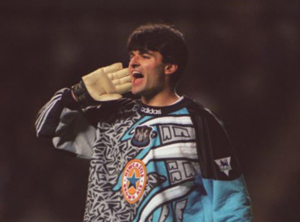 Pavel Srnicek in his Newcastle days back in 1995