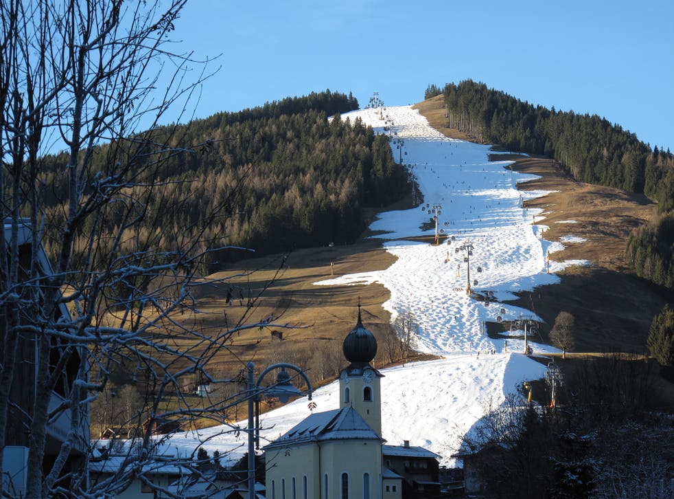 A view of Saalch's piste