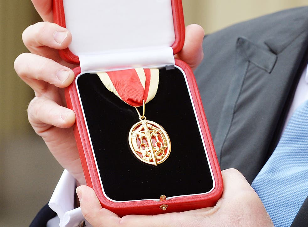 A knighthood medal is the biggest honour for some