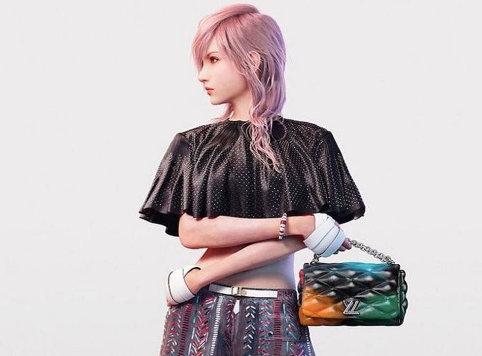 Pixel perfect: a preview of Lightning in the Vuitton ad, on Nicolas Ghesquière's Instagram