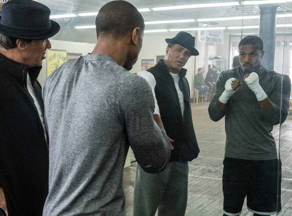 Rocky reflections: Michael B Jordan and Sylvester Stallone in the gym for Creed
