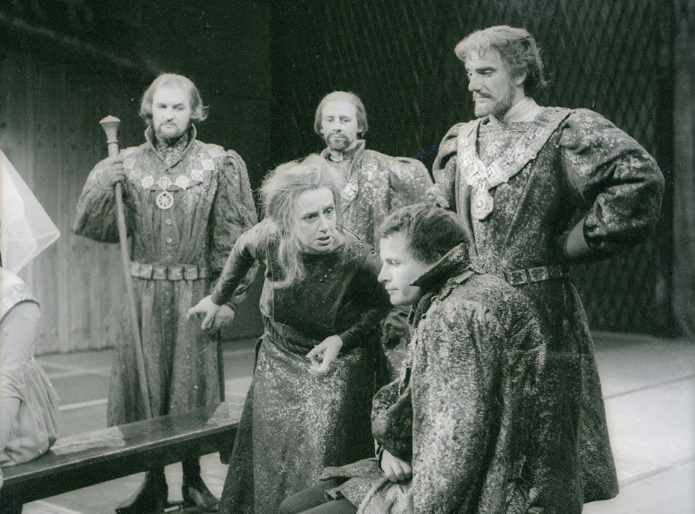 Ian Holm with Dame Peggy Ashcroft in the BBC broadcast Royal Shakespeare Company