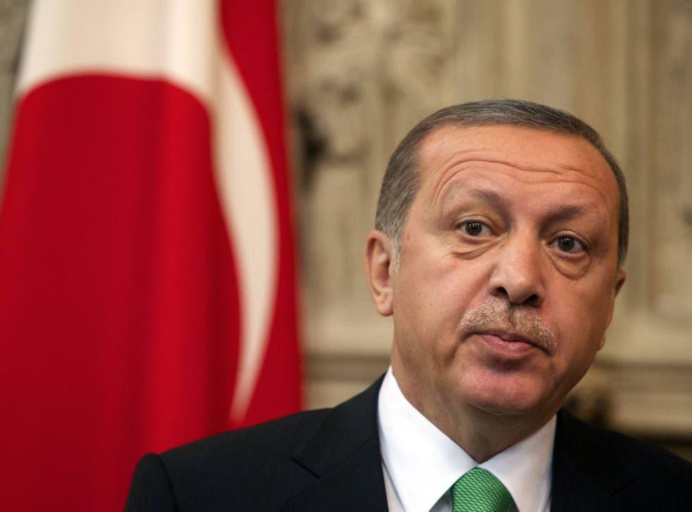 Recep Tayyip Erdogan made the remark after returning from Saudi Arabia