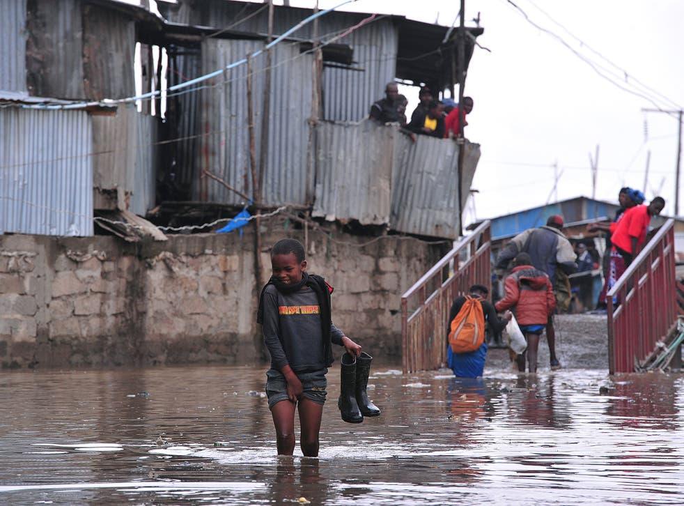 Heavy rainfall flooded parts of Nairobi