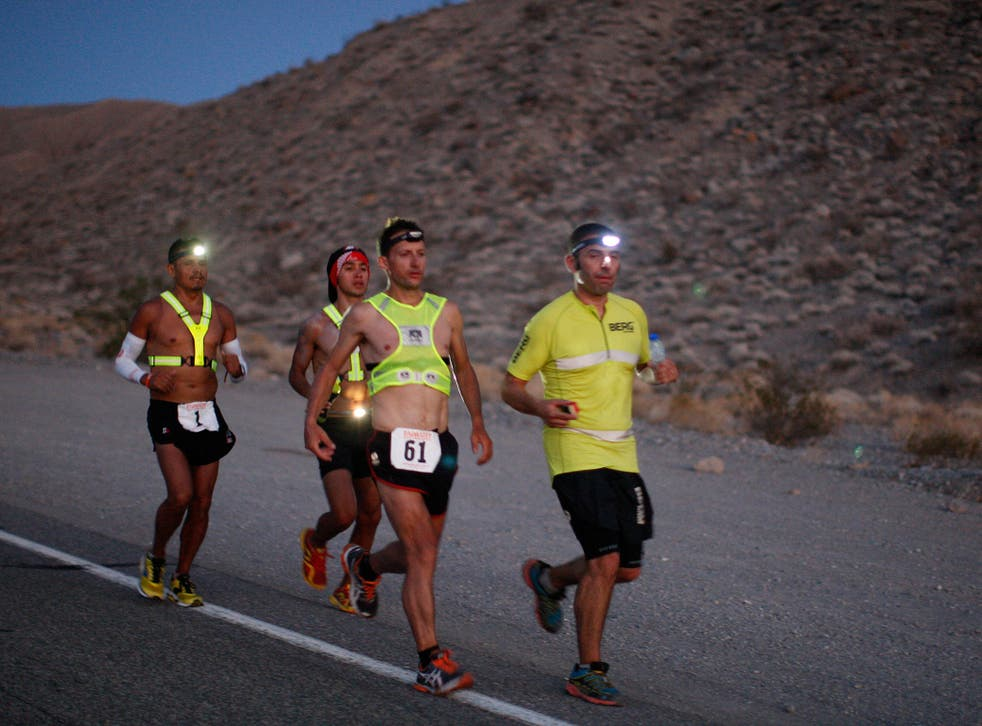 The Annual Badwater Ultra Marathon Held In Death Valley's Extreme Heat