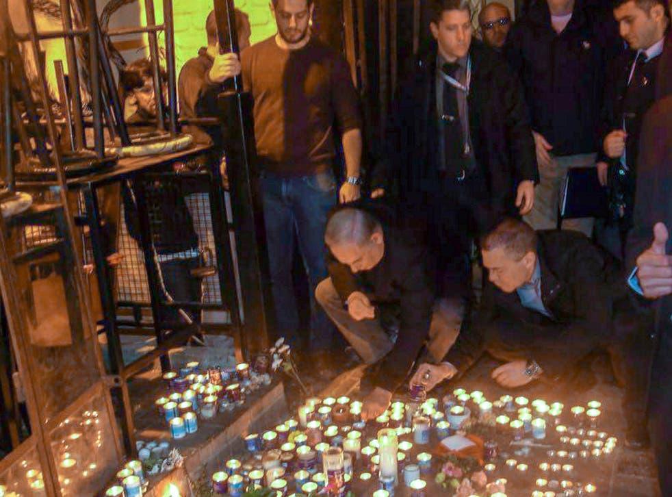 Israeli Prime Minister Benjamin Netanyahu visits scene of shooting, Tel Aviv