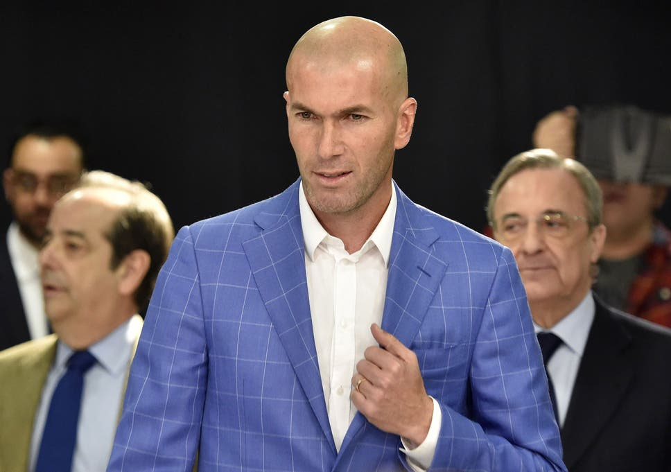 Image result for zidane real madrid unveiling 2019 getty