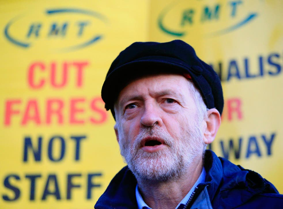 Jeremy Corbyn attends a protest against rises in rail fares in London last week