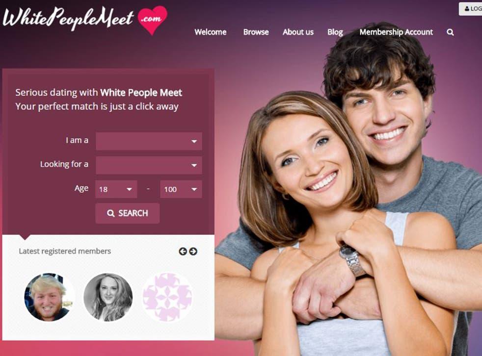 A screenshot from WhereWhitePeopleMeet.com