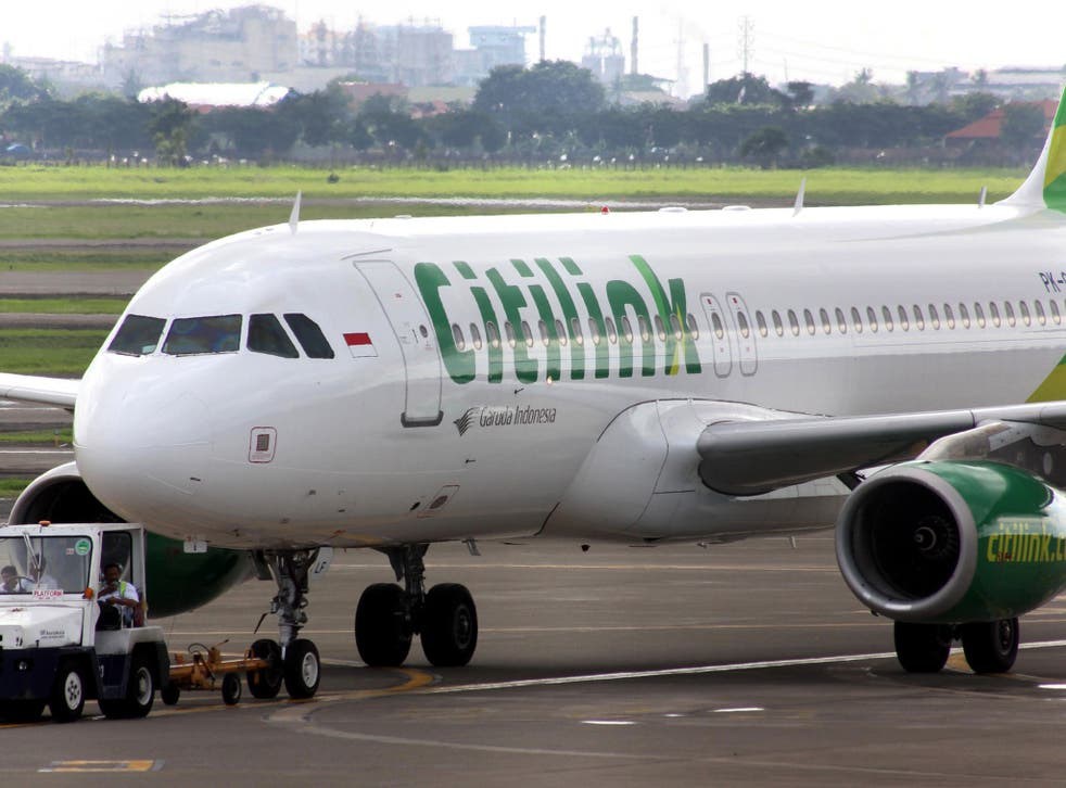 <p>The incident reportedly happened on a Citilink flight</p>