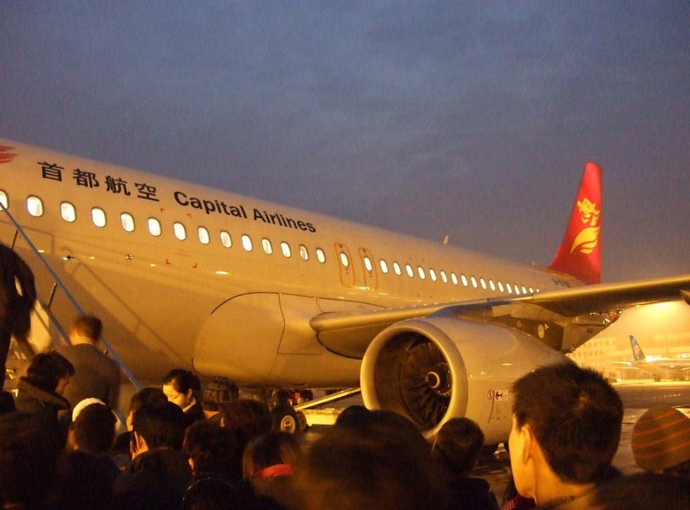 The incident occurred on a Capital Airlines flight