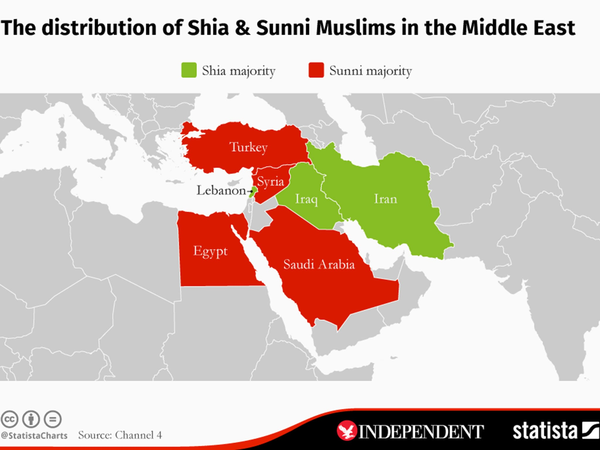 Image result for images showing shia sunni middle east map