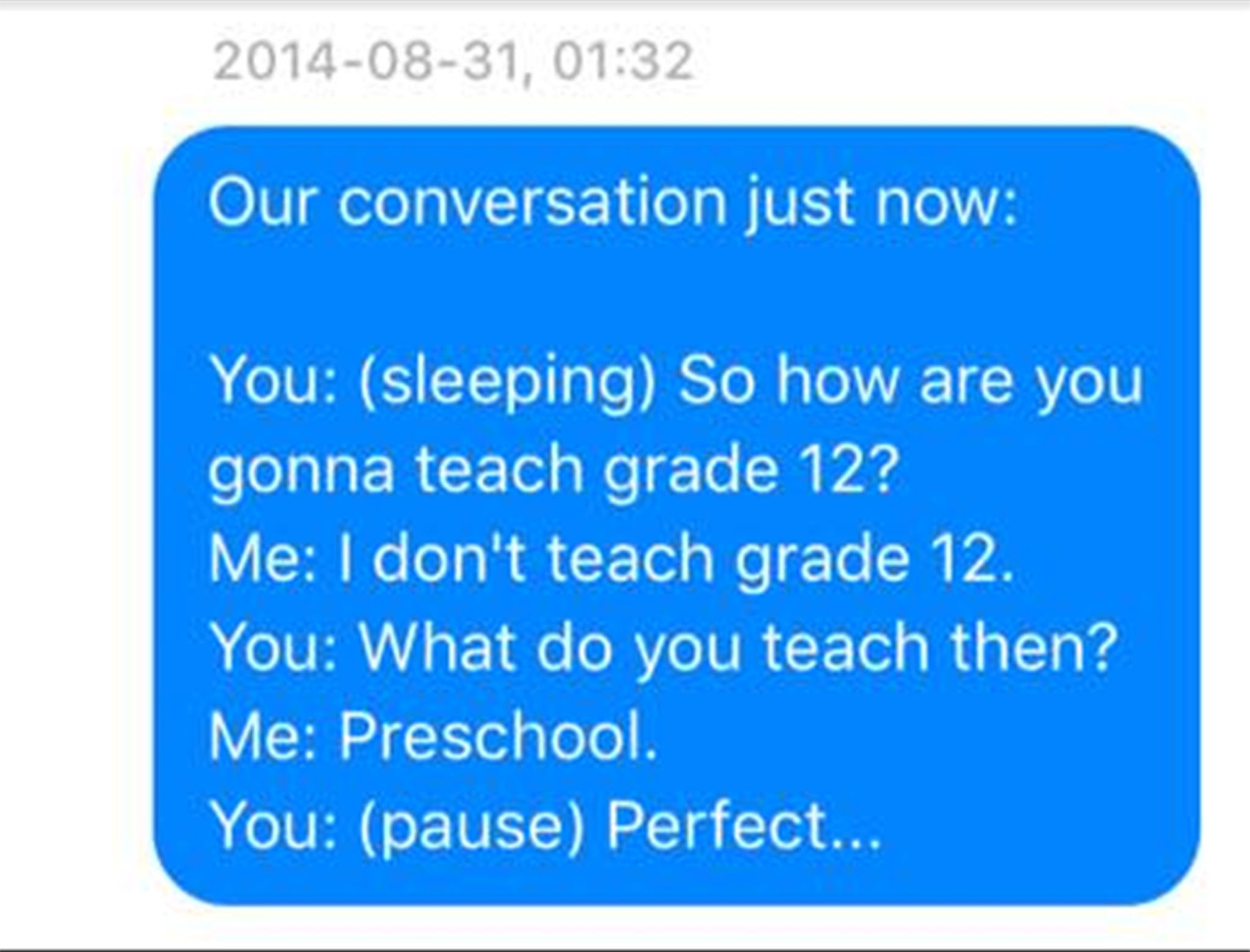 Woman writes down everything her husband says in his sleep and texts