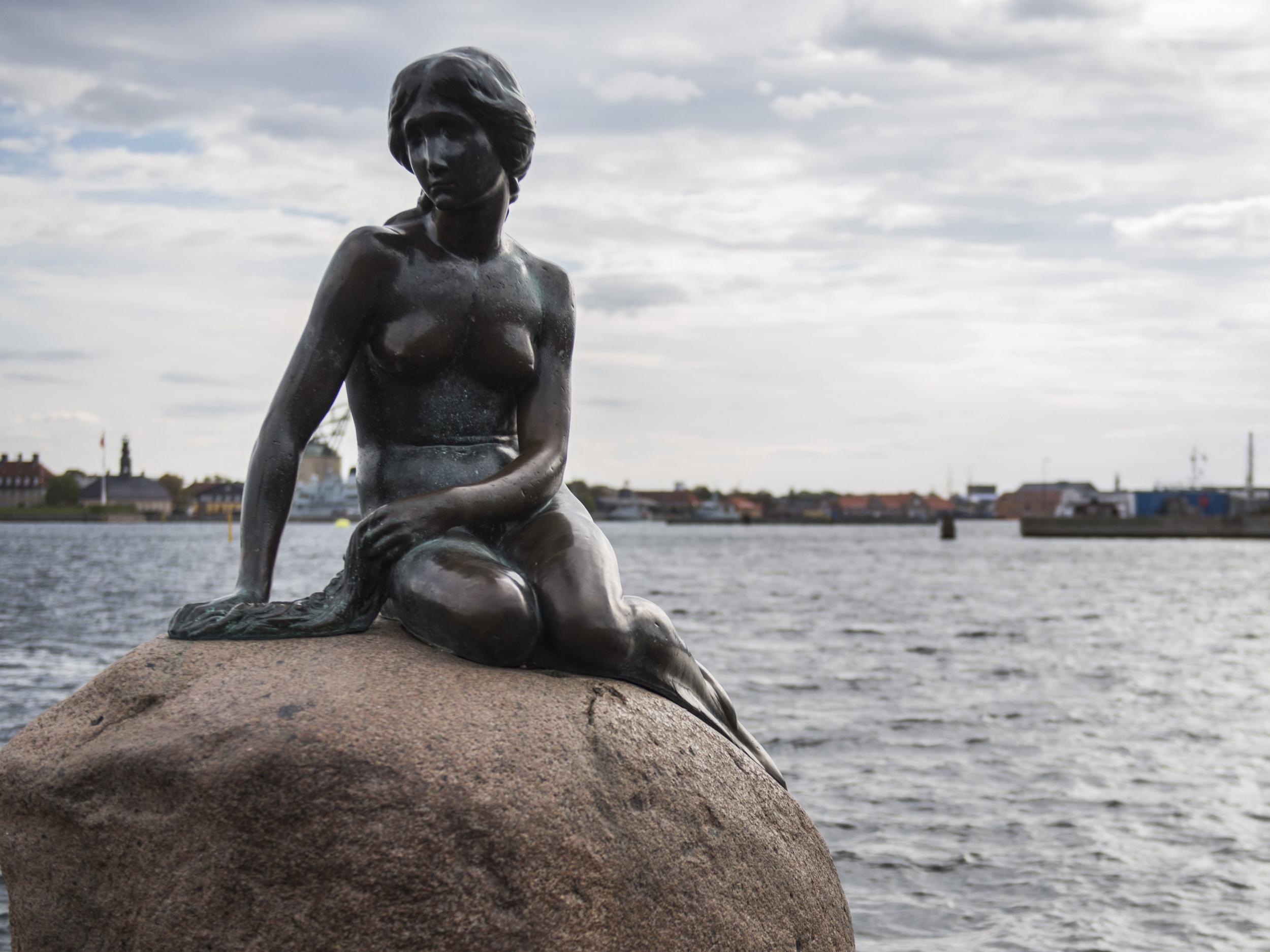 Image result for image of mermaid in copenhagen