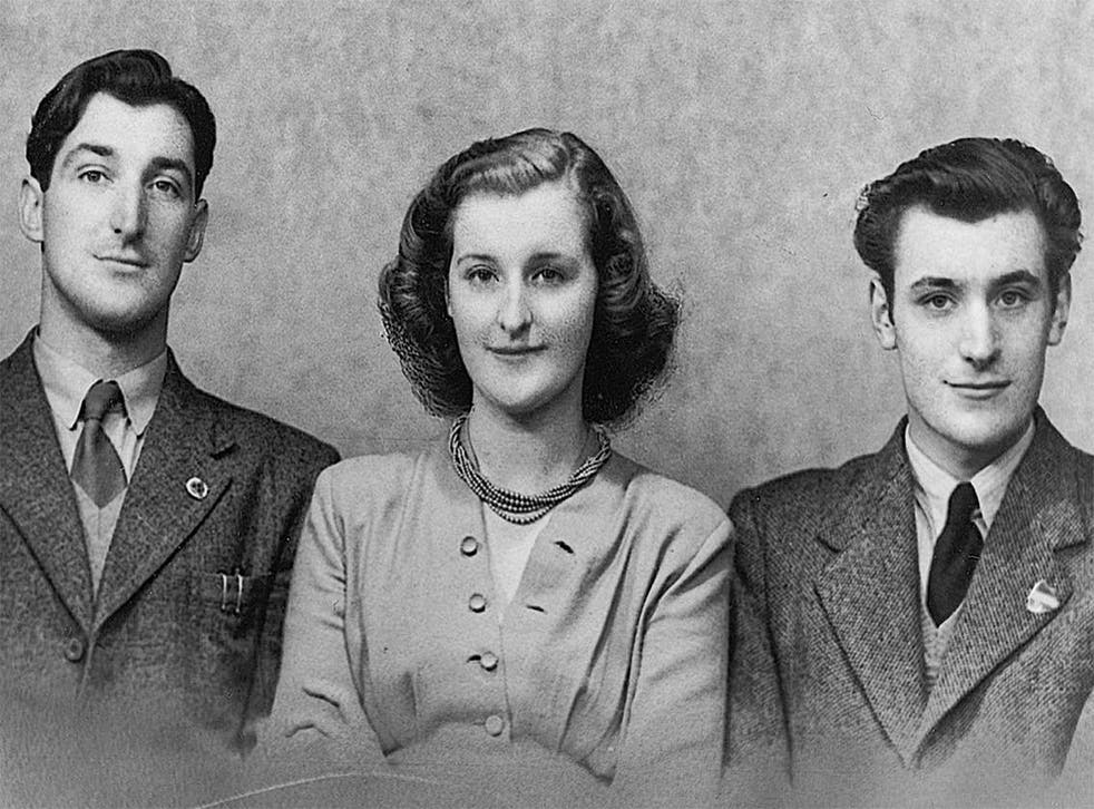 Olwyn with her brothers, Gerald