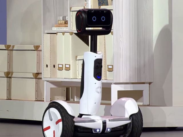 Half way through the keynote, the self-balancing transporter turned into a robot butler