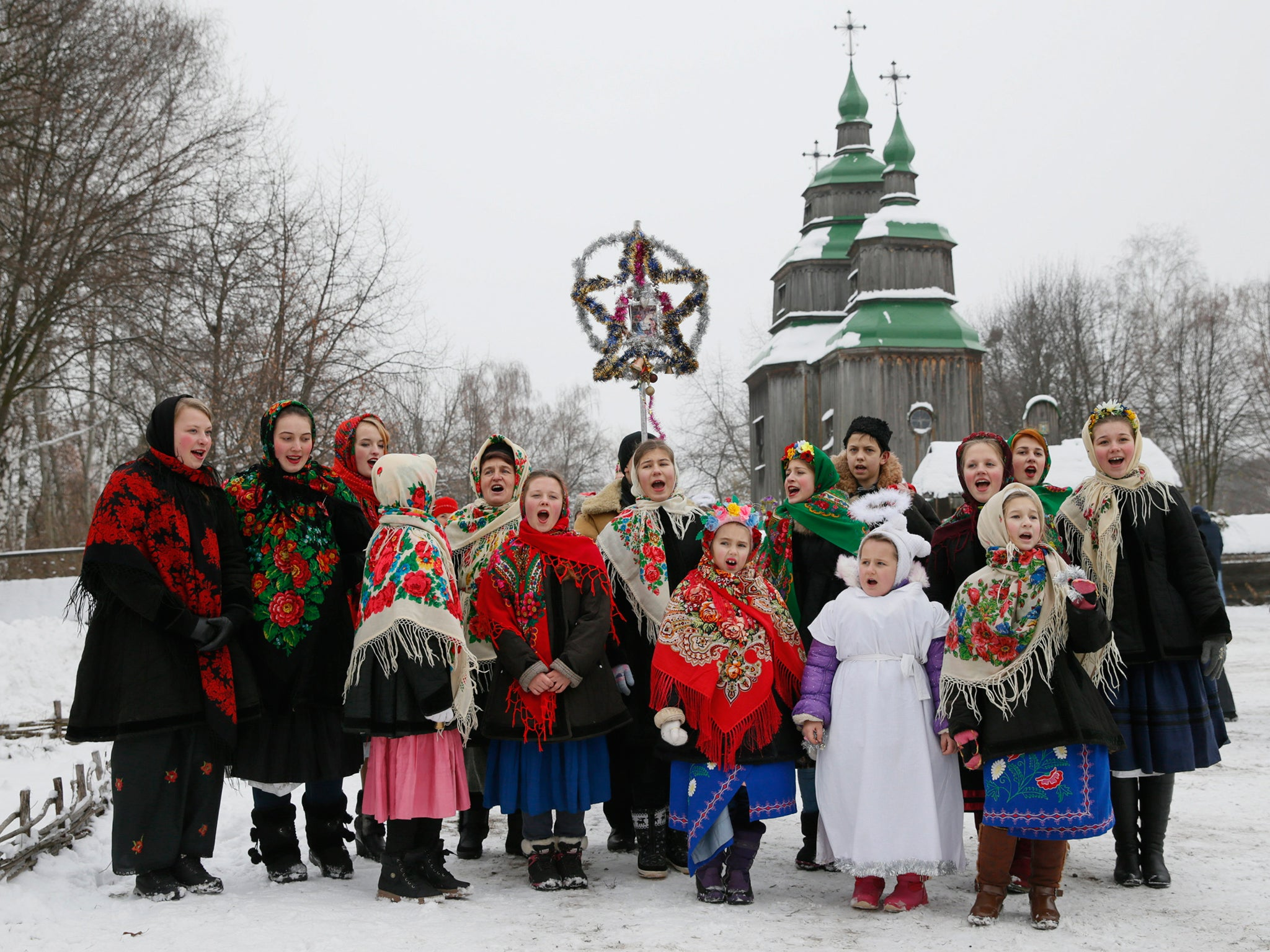 Orthodox Christians Celebrate Christmas Around The World