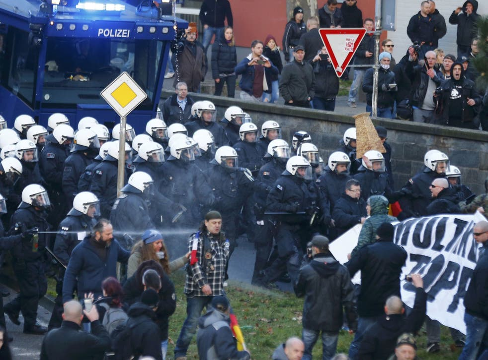 Previous political rallies have seen police and protesters clash in Cologne