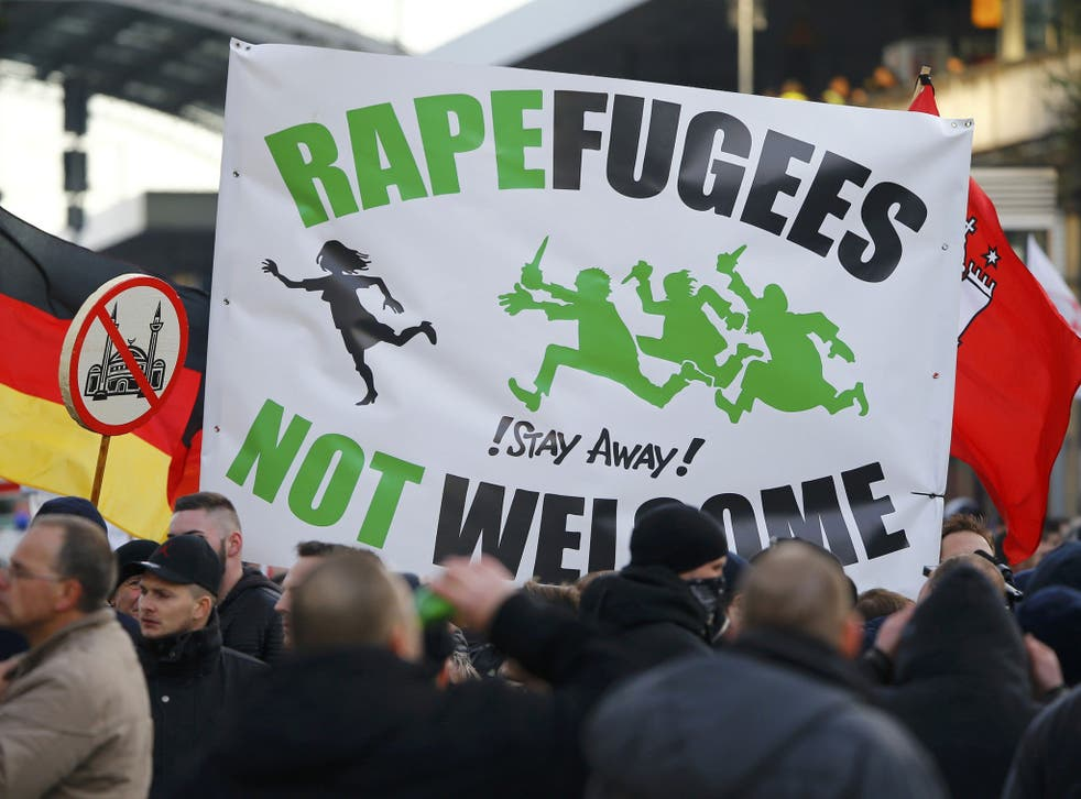 Far-right groups have claimed the arrival of refugees is putting German women at risk